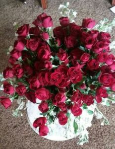 100 Red Roses For Sister Rose's 100th Birthday Celebration.
