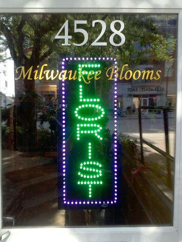 Neon Florist Sign