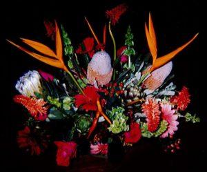 Hot Summer Tropic Floral Center Piece