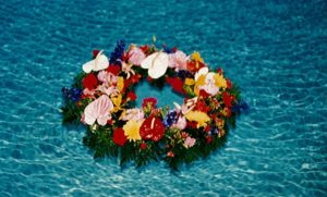 Fresh Wreath for a pool party in River Hills, WI.