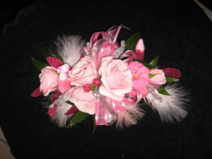 Custom Designed Wrist Corsage For Daminican High School Prom, Milwaukee, WI.