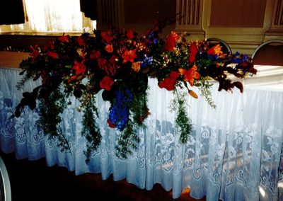 Head Table Wedding Floral Center Piece