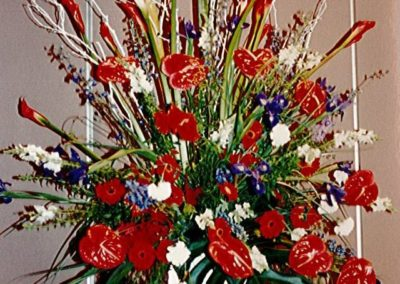 Patriotic Floral Display