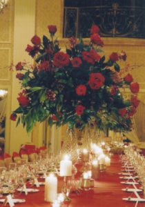 Wedding Centerpieces at the Imperial Ballroom at the Pfister Hotel, Milwaukee, WI.
