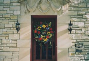 Summer Wreath for a grand home in Elm Grove, WI.