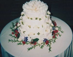 Fresh Flower on a Wedding Cake