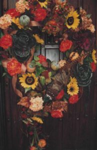 Autmn Wreath for a door at a home in Mequon, WI.